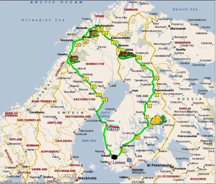 Pohjois-Norja Tietullit